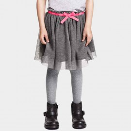 Yakuyiyi Sweetheart Grey Skirt (50612T119)