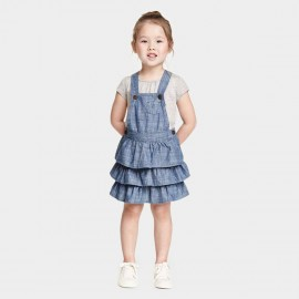 Yakuyiyi Little Wave Blue Dress (50613T077)