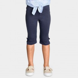 Yakuyiyi Close-Fitting Navy Capris (50621T106)