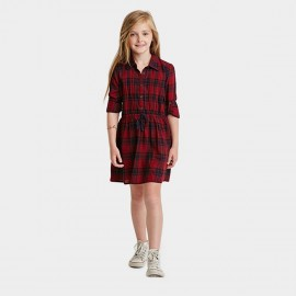 Yakuyiyi England Checker Red Dress (50711T135)