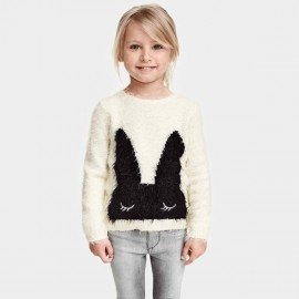 Yakuyiyi Sleeping Bunny White Knit (50745T238)