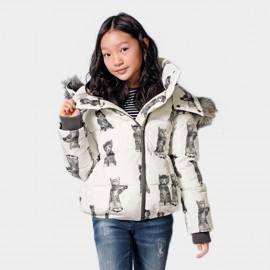 Yakuyiyi Snow Kitten White Down Jacket (50753T302)