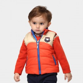 Pepevega Bear Patch Orange Gilet (A34SB422)