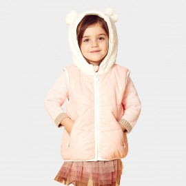 Pepevega Bear-ear Hooded Apricot Down Jacket (A44SB361)
