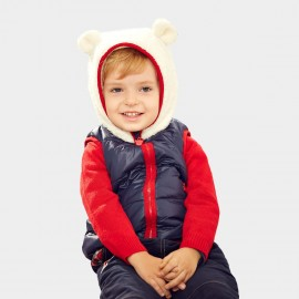 Pepevega Bear-ear Hooded Navy Down Jacket (A44SB361)