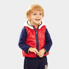 Pepevega Bear-ear Hooded Red Down Jacket (A44SB361)
