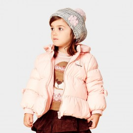 Pepevega Hooded Pink Down Jacket (A44SU105)