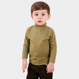 Pepevega Turtleneck Plain Army Green Tee (A44ZT471)
