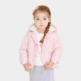 Pepevega Polka Dot Pink Down Jacket (A54SF145)