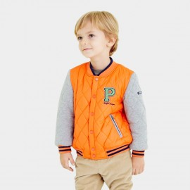 Pepevega Diamond Quilted Orange Jacket (A54SM503)