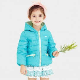 Pepevega Floral Accent Blue Down Jacket (A54SU212)