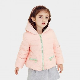 Pepevega Floral Accent Pink Down Jacket (A54SU212)