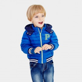 Pepevega Baseball Style Blue Down Jacket (A54SU501)