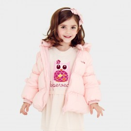 Pepevega Warm Zipper Pink Down Jacket (A54SU851)