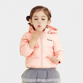 Pepevega Warm Zipper Pink Down Jacket (A54SU860)