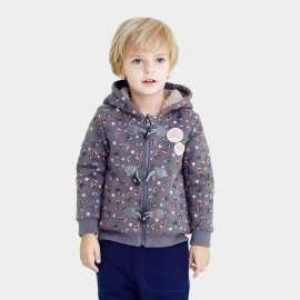 Pepevega Cartoon Print Grey Jacket (A54SW704)