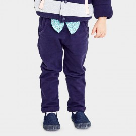 Pepevega Big Bow Cotton Navy Pants (A54ZK219)