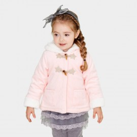 Pepevega Fleece-lined Toggle Pink Jacket (A54ZM854)