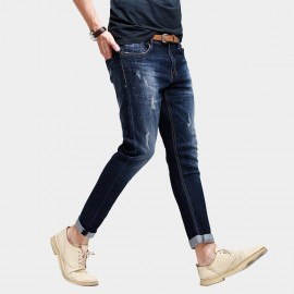 Kuegou Dickies Style Denim Washed Blue Jeans (DK-9396)