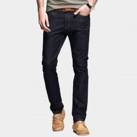 KUEGOU Dark Washed Navy Jeans (KK-2338)