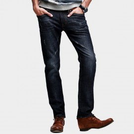 Kuegou Subtle Washed Navy Jeans (KK-2356)