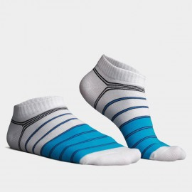 KUEGOU No Show Striped Blue Socks (KS-01)