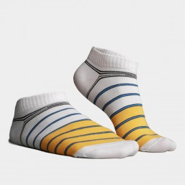 KUEGOU No Show Striped Yellow Socks (KS-01)