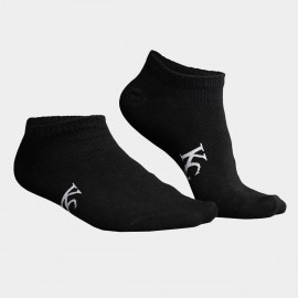 KUEGOU Plain No Show Black Socks (KS-02)