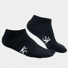 KUEGOU Plain No Show Charcoal Socks (KS-02)