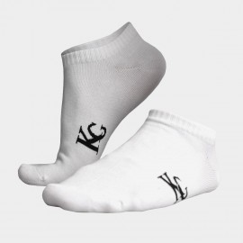 KUEGOU Plain No Show White Socks (KS-02)
