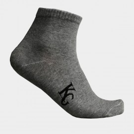 KUEGOU Soft Quarter Grey Socks (KS-03)