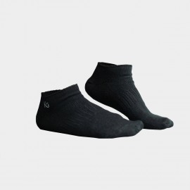 KUEGOU Solid No-Show Black Socks (KS-04)