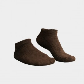 KUEGOU Solid No-Show Coffee Socks (KS-04)
