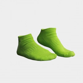 KUEGOU Solid No-Show Green Socks (KS-04)