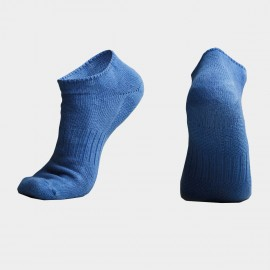 KUEGOU Solid No-Show Light Blue Socks (KS-04)