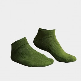 KUEGOU Solid No-Show Military Green Socks (KS-04)