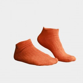KUEGOU Solid No-Show Orange Socks (KS-04)