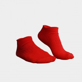 KUEGOU Solid No-Show Red Socks (KS-04)