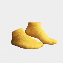 KUEGOU Solid No-Show Yellow Socks (KS-04)