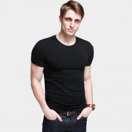KUEGOU Stretchy Everyday Black Tee (ST-601)