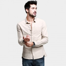 KUEGOU Button-Down Apricot Shirt (VC-9319)