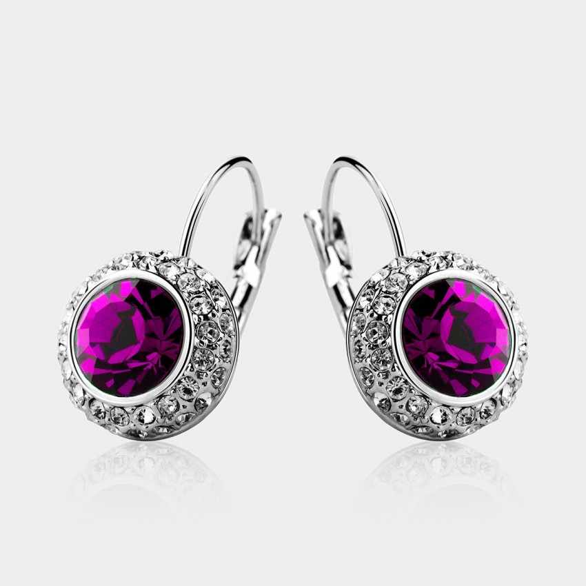 SEVENTY 6 Moon River Purple Earrings (2302)