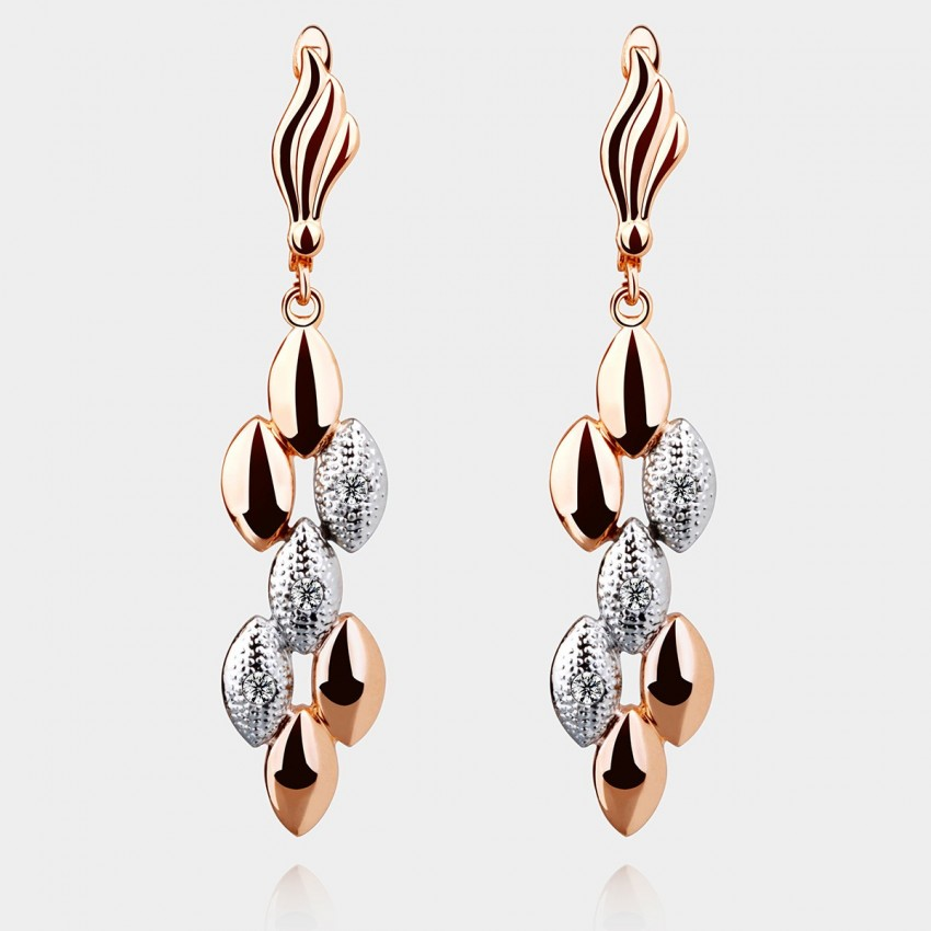 SEVENTY 6 Perfect Match K Gold White Earrings (2312)