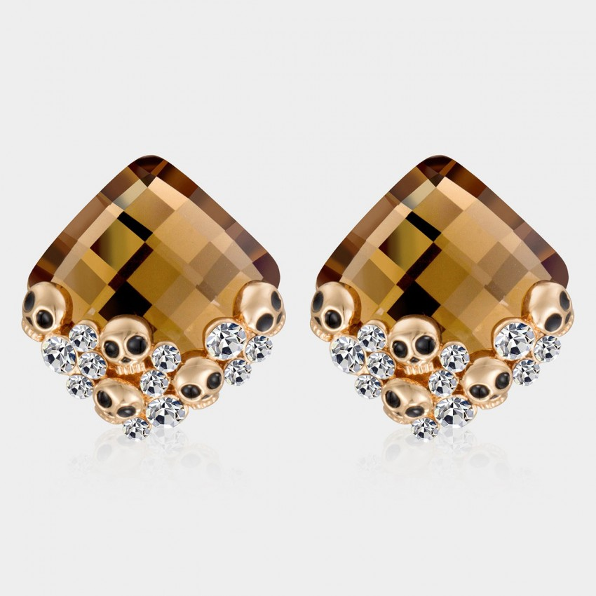 SEVENTY 6 Glim Champagne Earrings (2390)