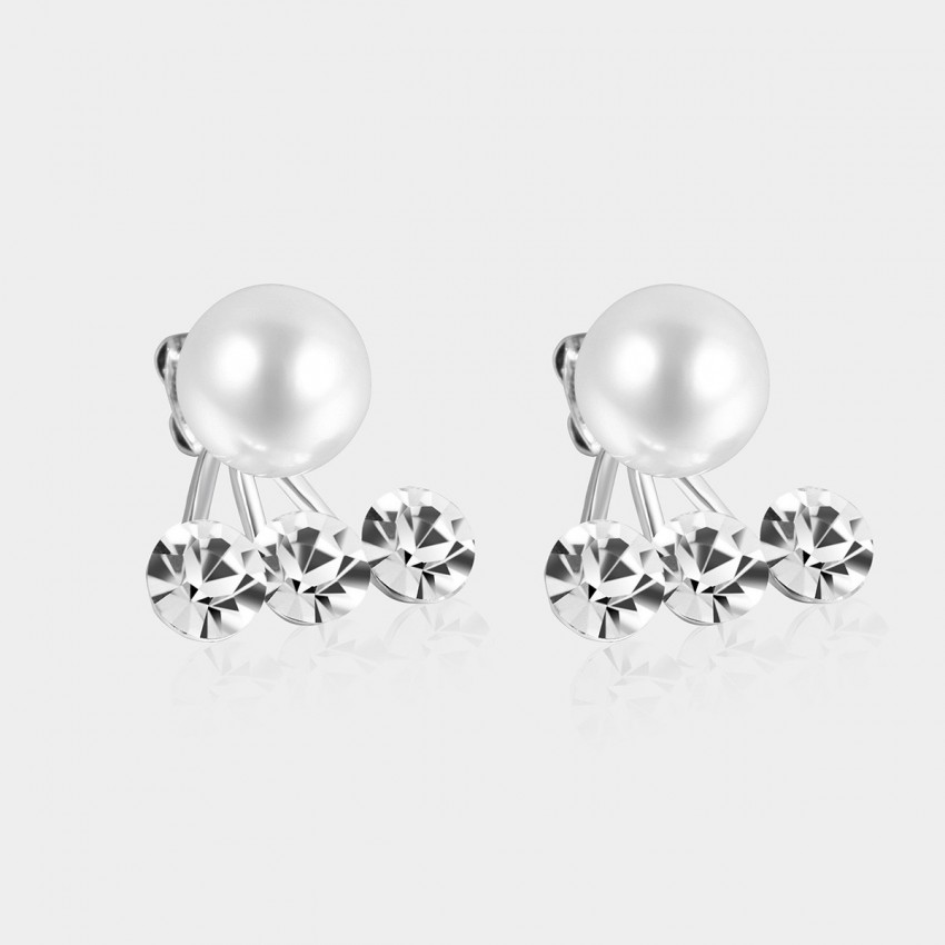 SEVENTY 6 Jasmine White Earrings (2403)