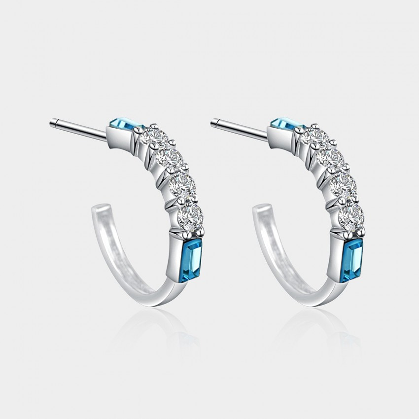 SEVENTY 6 Love Moment Ocean Blue Earrings (2411)