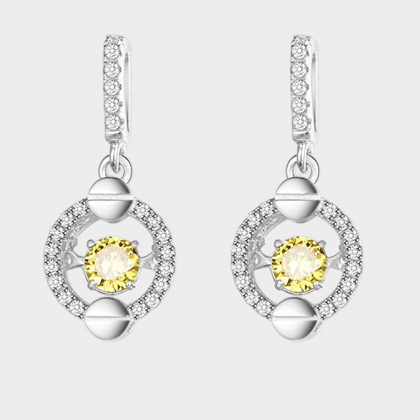SEVENTY 6 Attachment Yellow Earrings (2432)