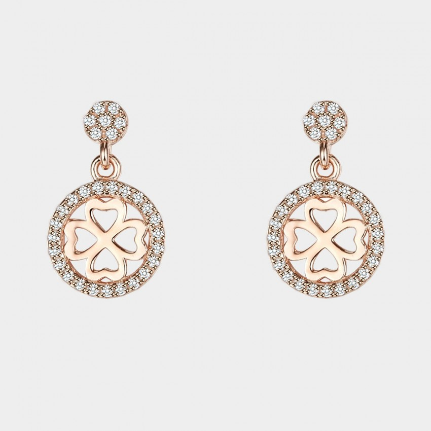 SEVENTY 6 The Honey Promise Rose Gold Earrings (2436)