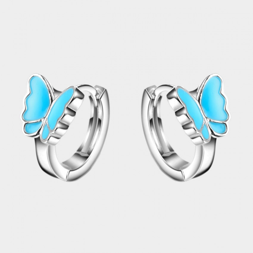 SEVENTY 6 Young Butterflies Blue Earrings (2441)