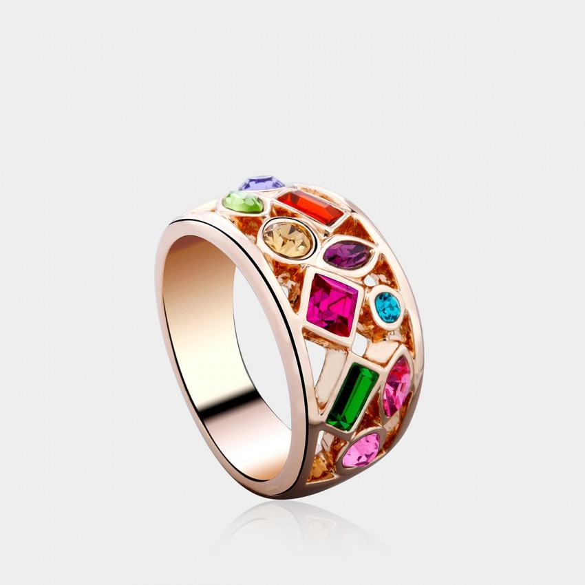 SEVENTY 6 Spring Dream K Gold Rainbow Ring (4102)